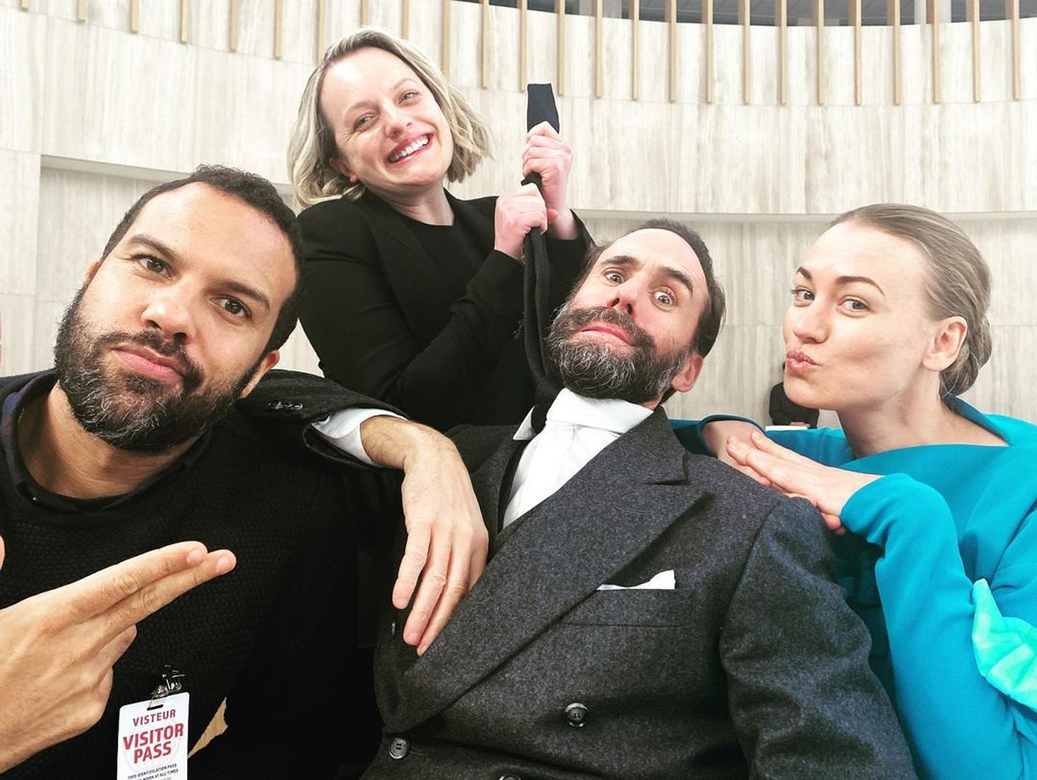 Handmaid 's Tale Cast Poses for Silly Selfie After Shocking-and Bloody-Season 4 Finale