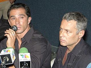 Sergio Mayer y Alexis Ayala