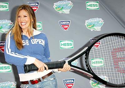 Daisy Fuentes en el US Open.