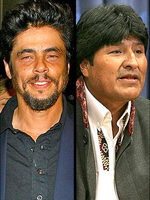 Benicio Del Toro y Evo Morales