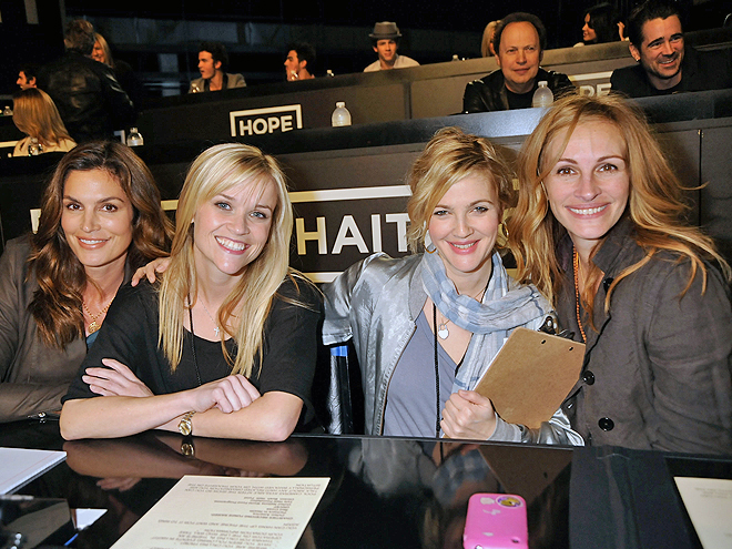 Cindy Crawford, Reese Witherspoon, Drew Barrymore, Julia Roberts