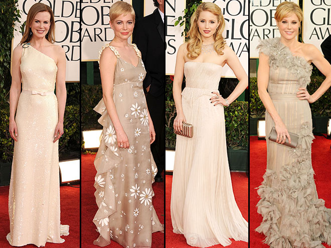 Nicole Kidman, Michelle Williams, Dianna Agron, Julie Bowen, Golden Globes 2011