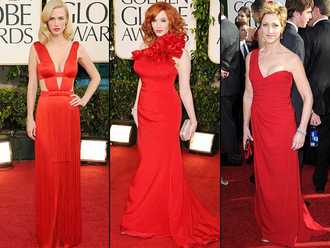 January Jones, Christina Hendricks, Edie Falco, Golden Globes 2011