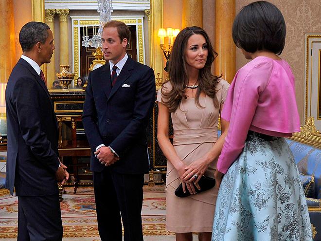 Barack Obama, Príncipe William, Kate Middleton, Michelle Obama