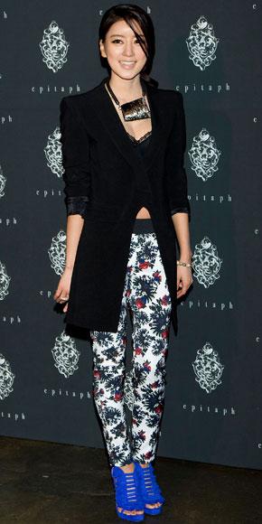 CHOI YOON-SO, Floral pants