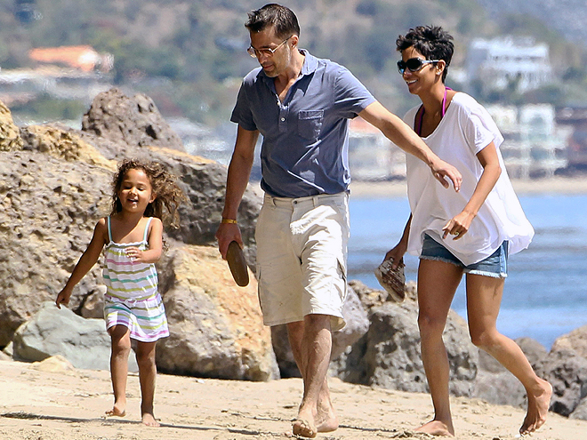 Halle Berry, Olivier Martinez, Nahla Aubry