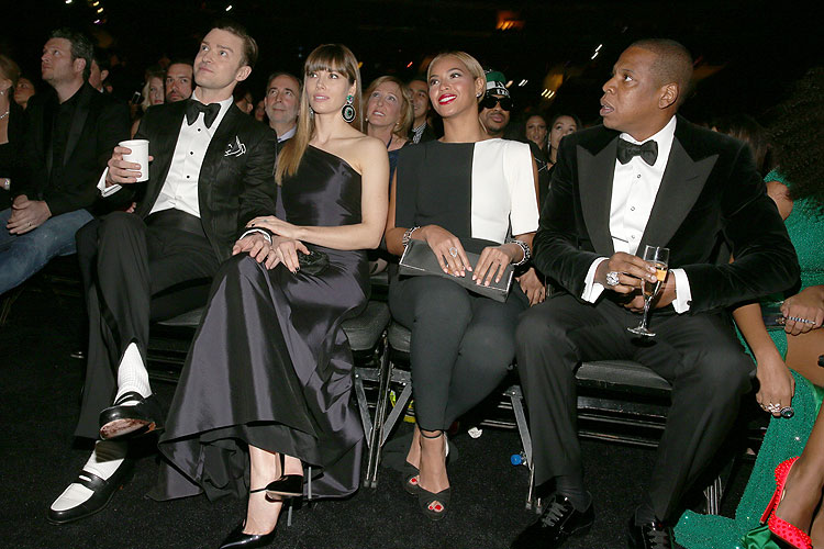 Justin Timberlake, Jessica Biel, Beyoncé, Jay-Z, Grammy 2013
