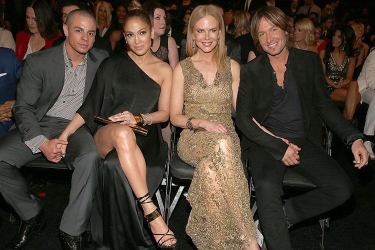 Jennifer López, Casper Smart, Nicole Kidman, Keith Urban, Grammy 2013