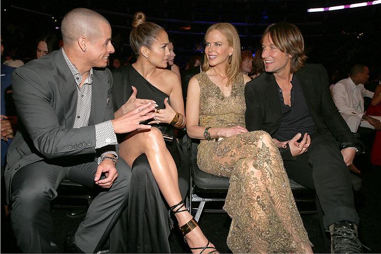 Casper Smart, Jennifer López, Nicole Kidman, Keith Urban
