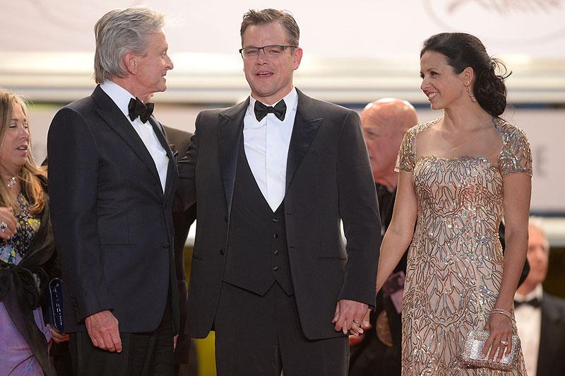 Michael Douglas, Matt Damon, Luciana Barroso