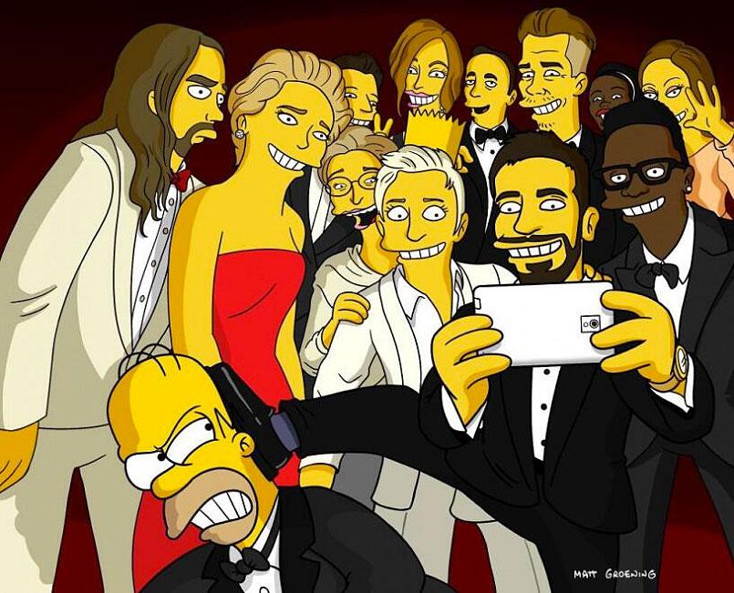 Homer Simpson, Selfie Oscar 2014