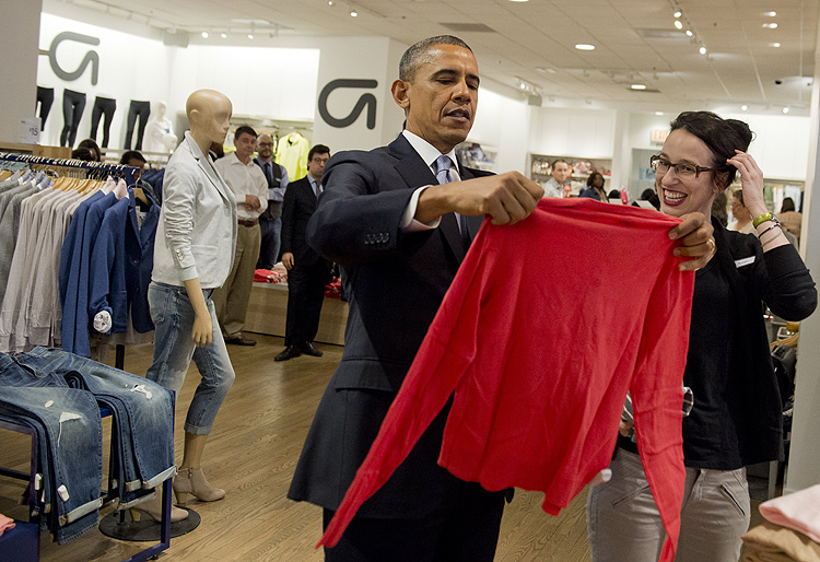 Barack Obama, compras, Gap