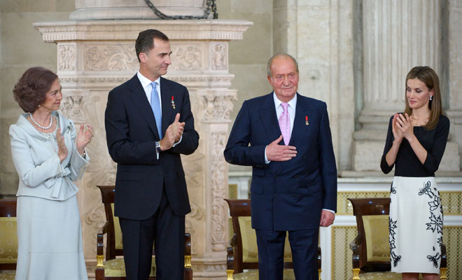 Doña Sofía, Felipe VI, Letizia Ortiz, Don Juan Carlos