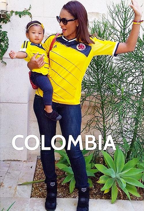 Ilia Calderón, Anna, Famosos con el Mundial.