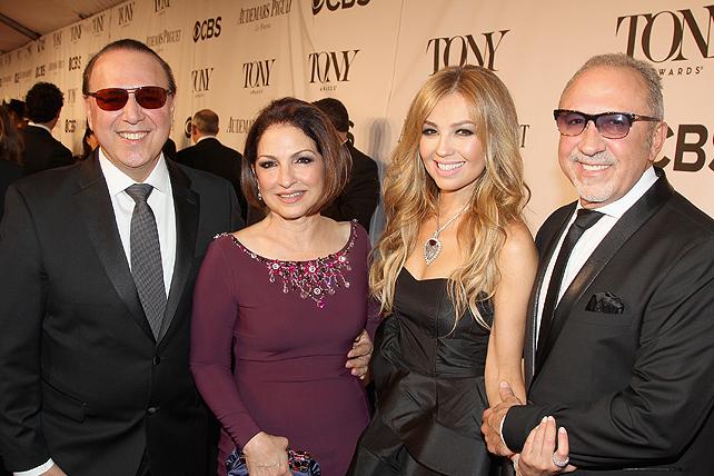 Thalía, Gloria Estefan, Emilio Estefan, Tony