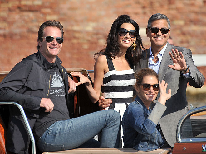 George Clooney, Amal Alamuddin, Cindy Crawford, Rande Gerber, Míralos