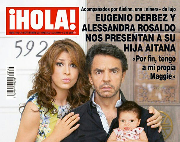 Eugenio Derbez, Alessandra Rosaldo, Aitana, bebes en instagram