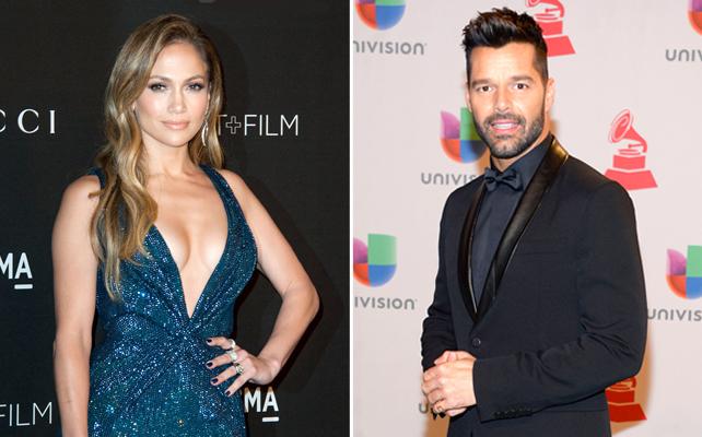 Jennifer López y Ricky Martin