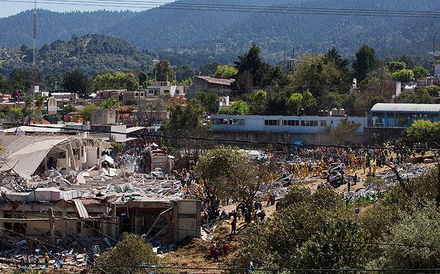 Hospital Maternal, explosion, cuajimalpa, mexico,