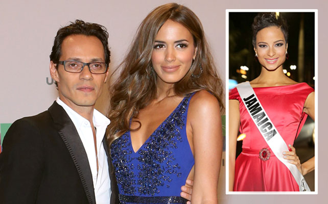 Marc Anthony, Shannon De Lima y Miss Jamaica Kaci Fennell