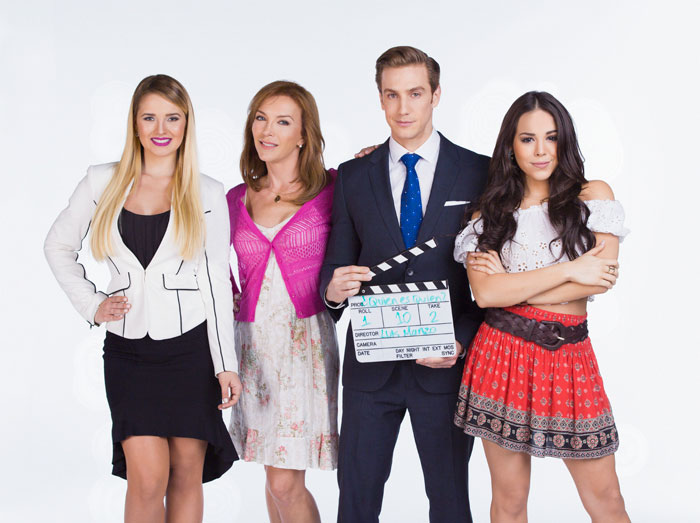 Kimberly Dos Ramos, Laura Flores, Eugenio Siller y Danna Paola