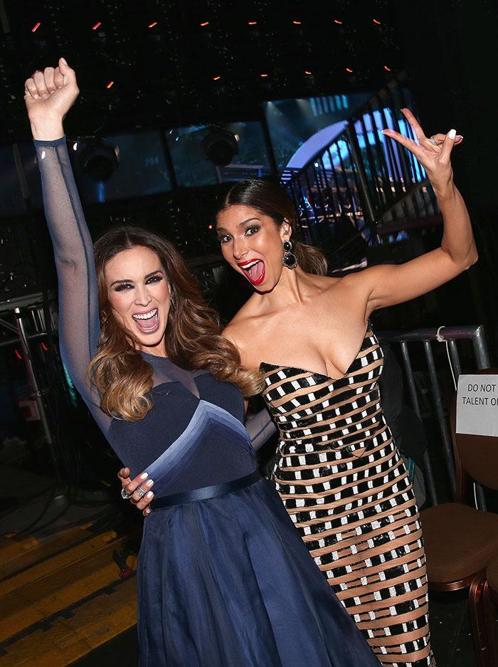 Jacqueline Bracamontes (L) and Roselyn Sanchez