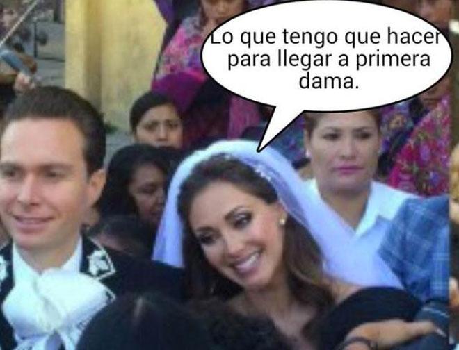 Meme boda Anahí y Manuel Velasco