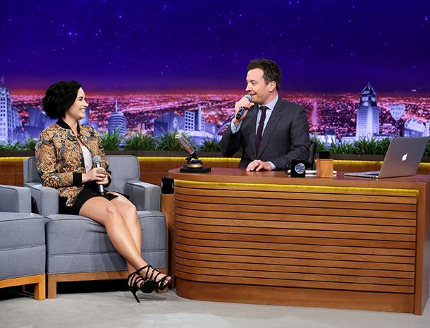 Demi Lovato, Jimmy Fallon