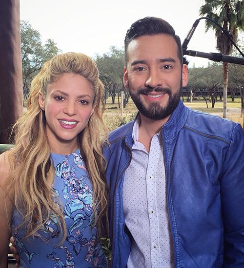 Shakira y Francisco Cáceres