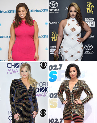 Celebs who embrace their curves