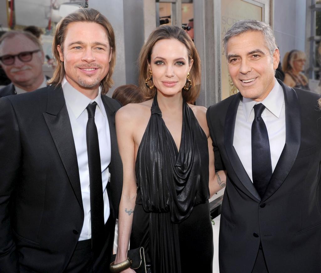 Brad Pitt, Angelina Jolie, George Clooney