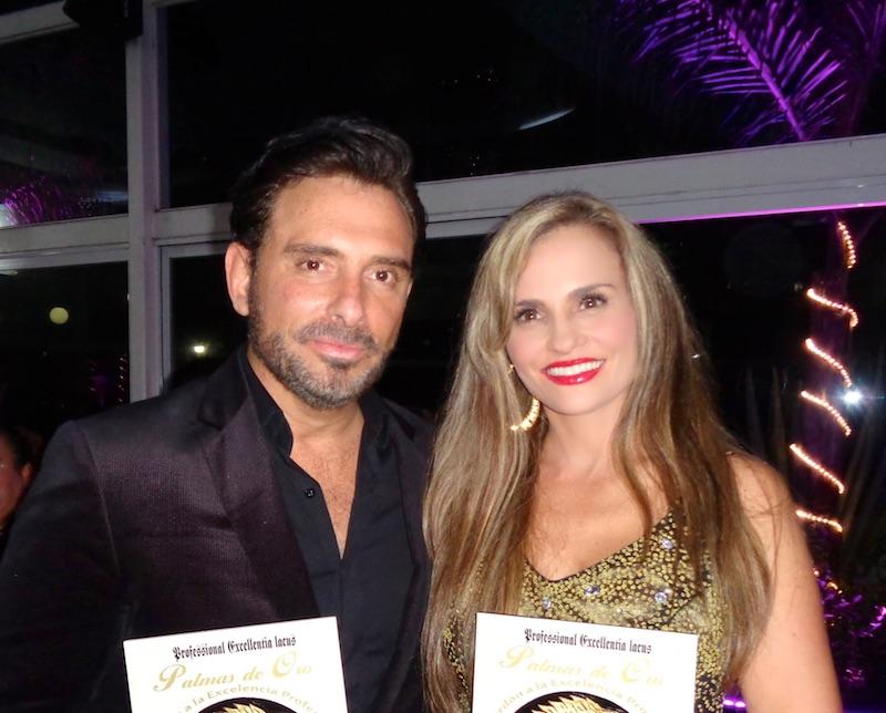 Aura Cristina Geithner y su hermano