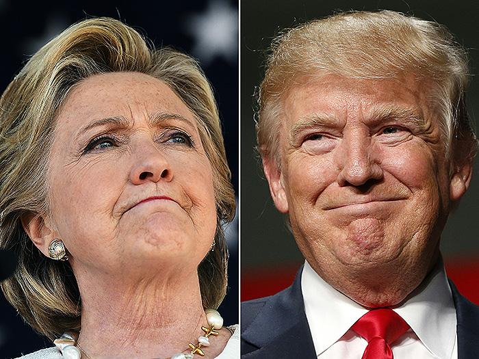 Hillary Clinton, Donald Trump,