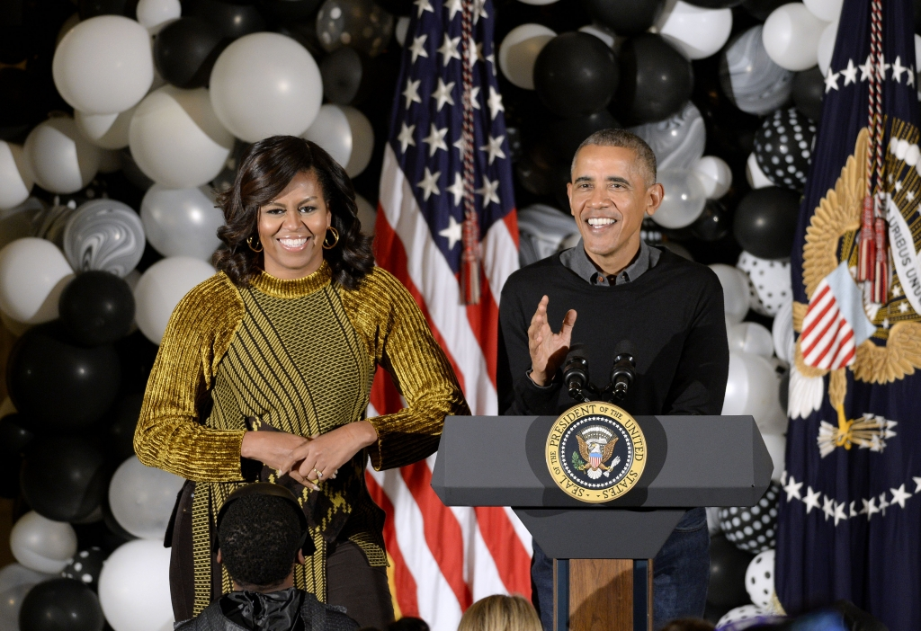 Presidente Barack Obama y Michelle Obama