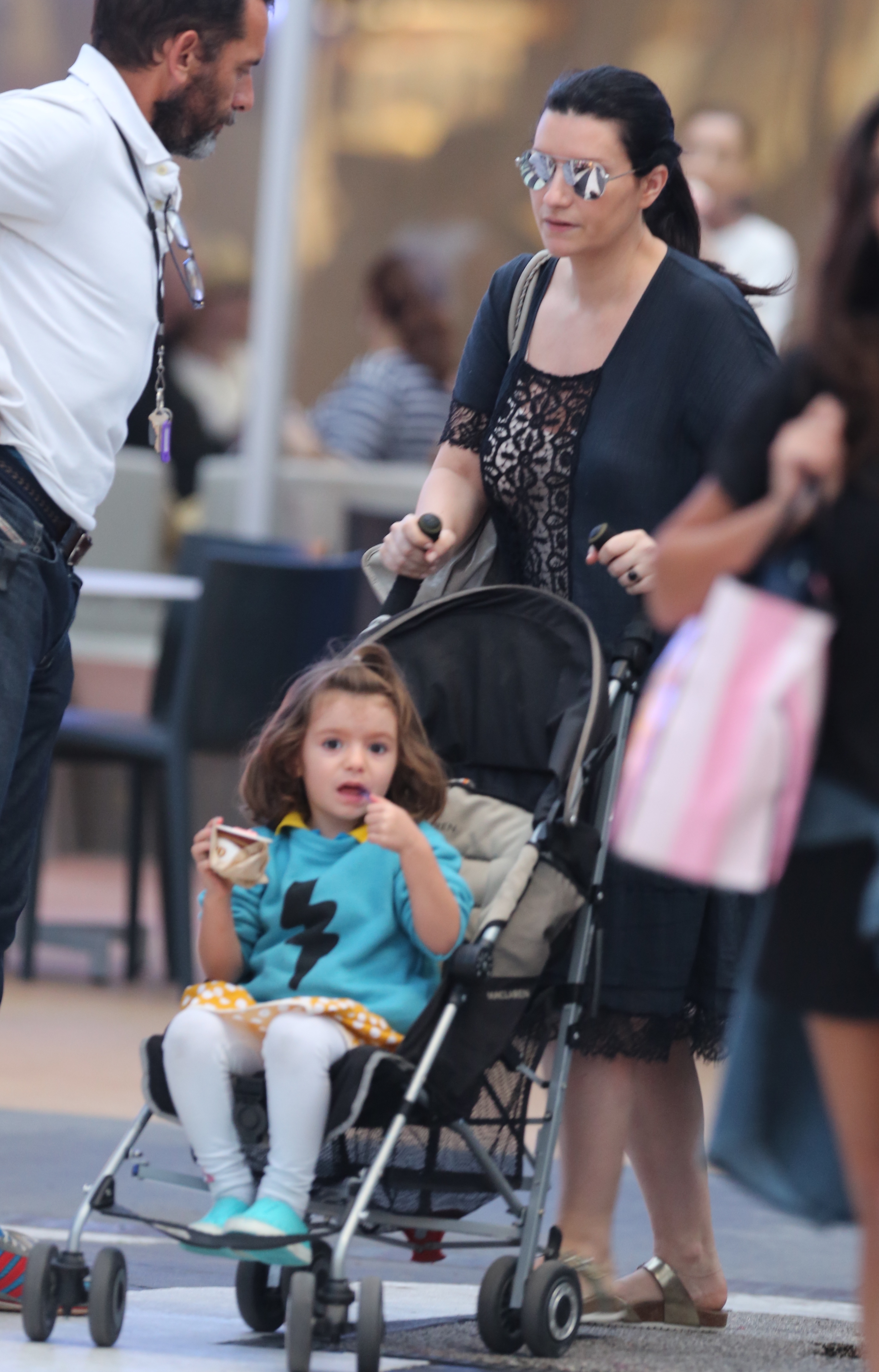 Laura Pausini Enjoys Some Quality Time With Her Family In Miami