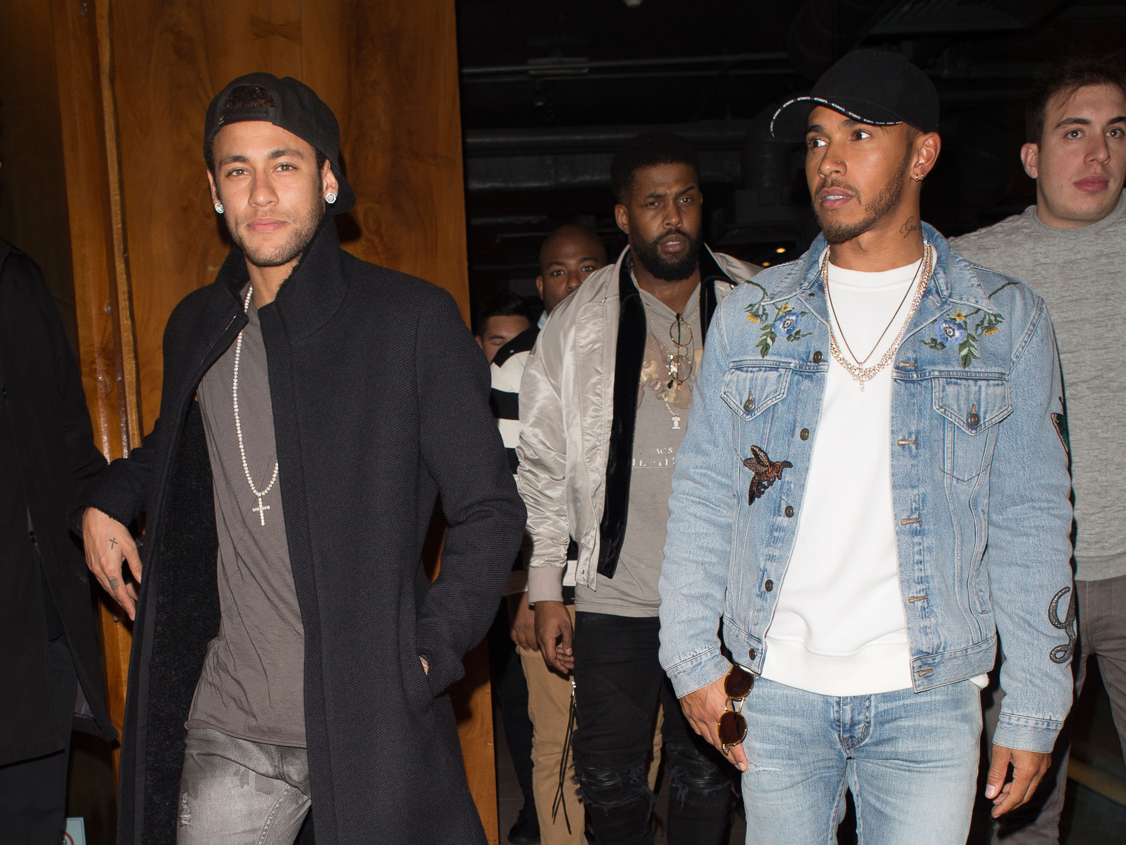 EXCLUSIVE Neymar Meets Up With Lewis Hamilton For Dinner During His Time Off In London