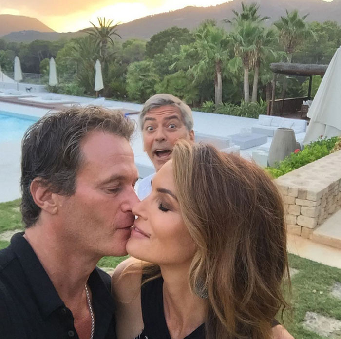 Cindy Crawford, Rande Gerber y George Clooney