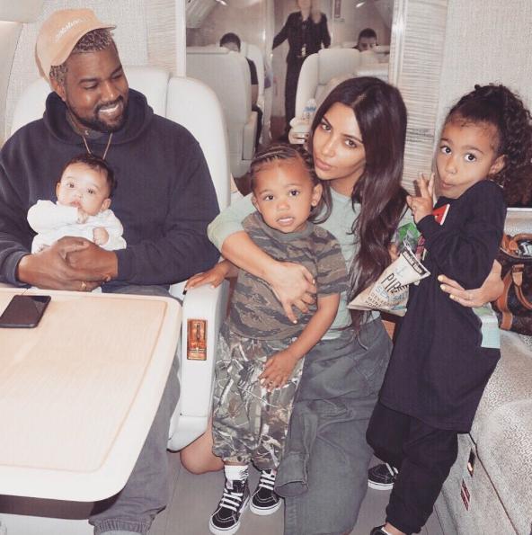Kim Kardashian y su esposo, Kanye West