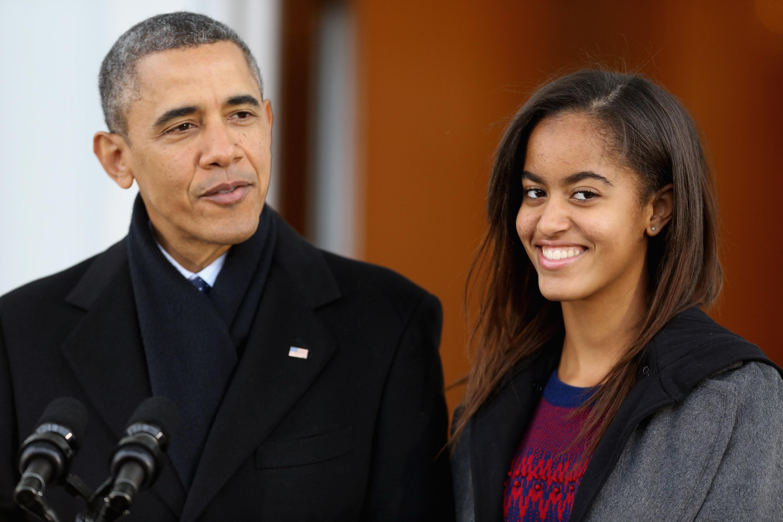 Barack Obama y Malia Obama
