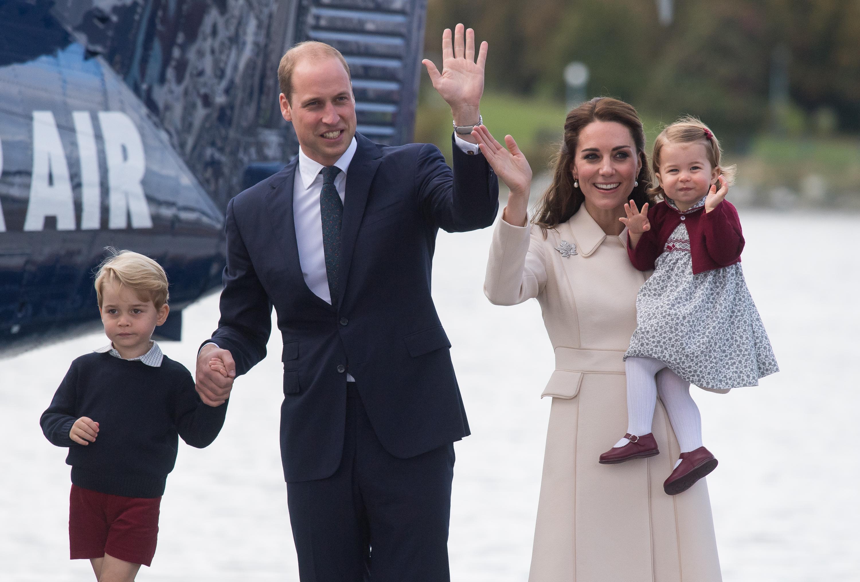 El príncipe William y su familia