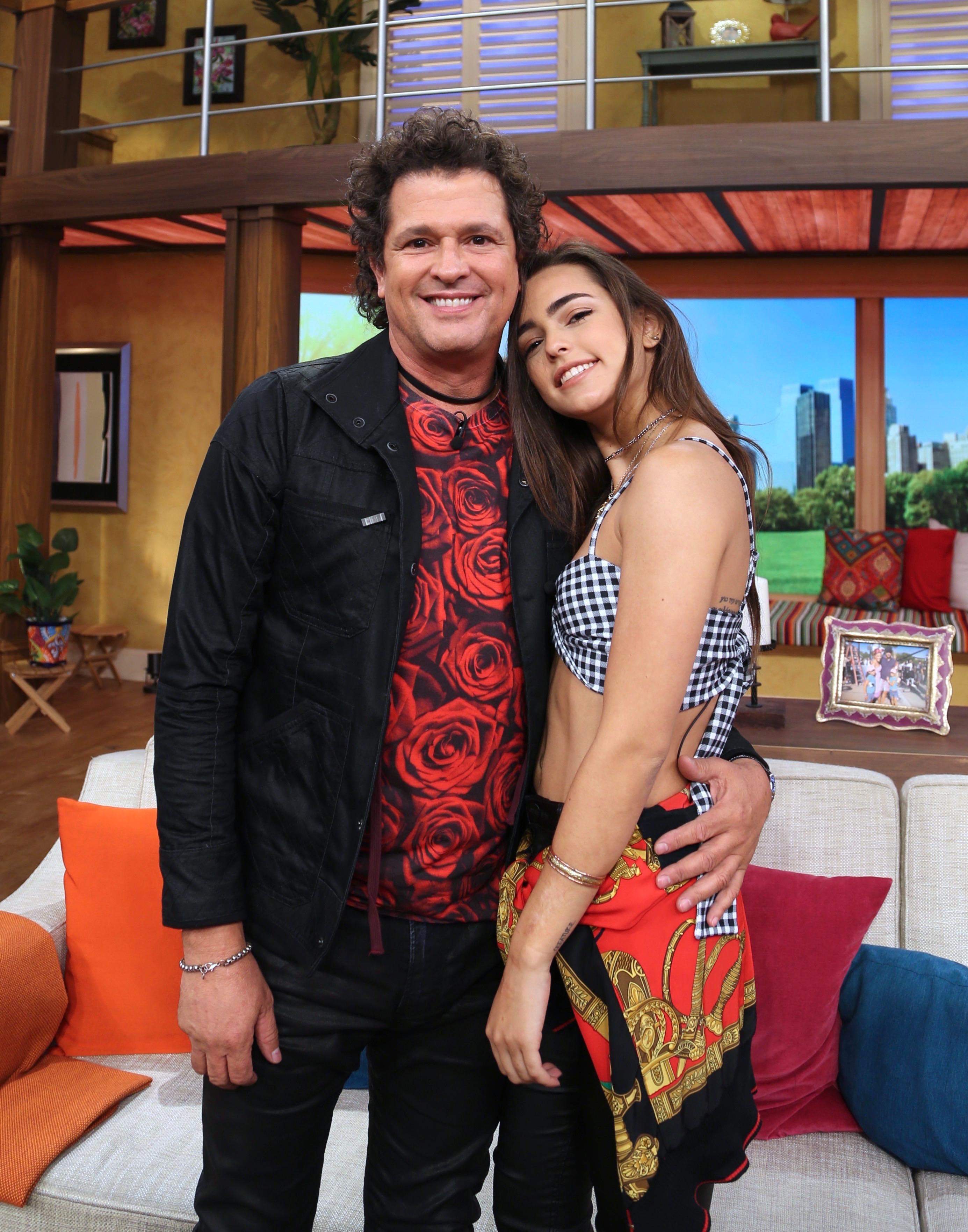 Carlos Vives y su hija Lucy