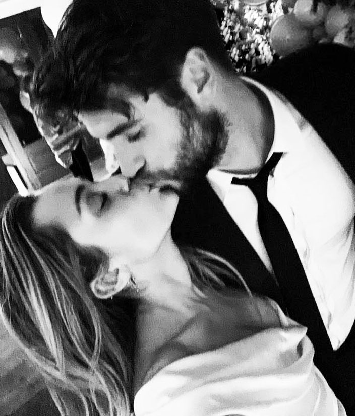 Liam Hemsworth y Miley Cyrus