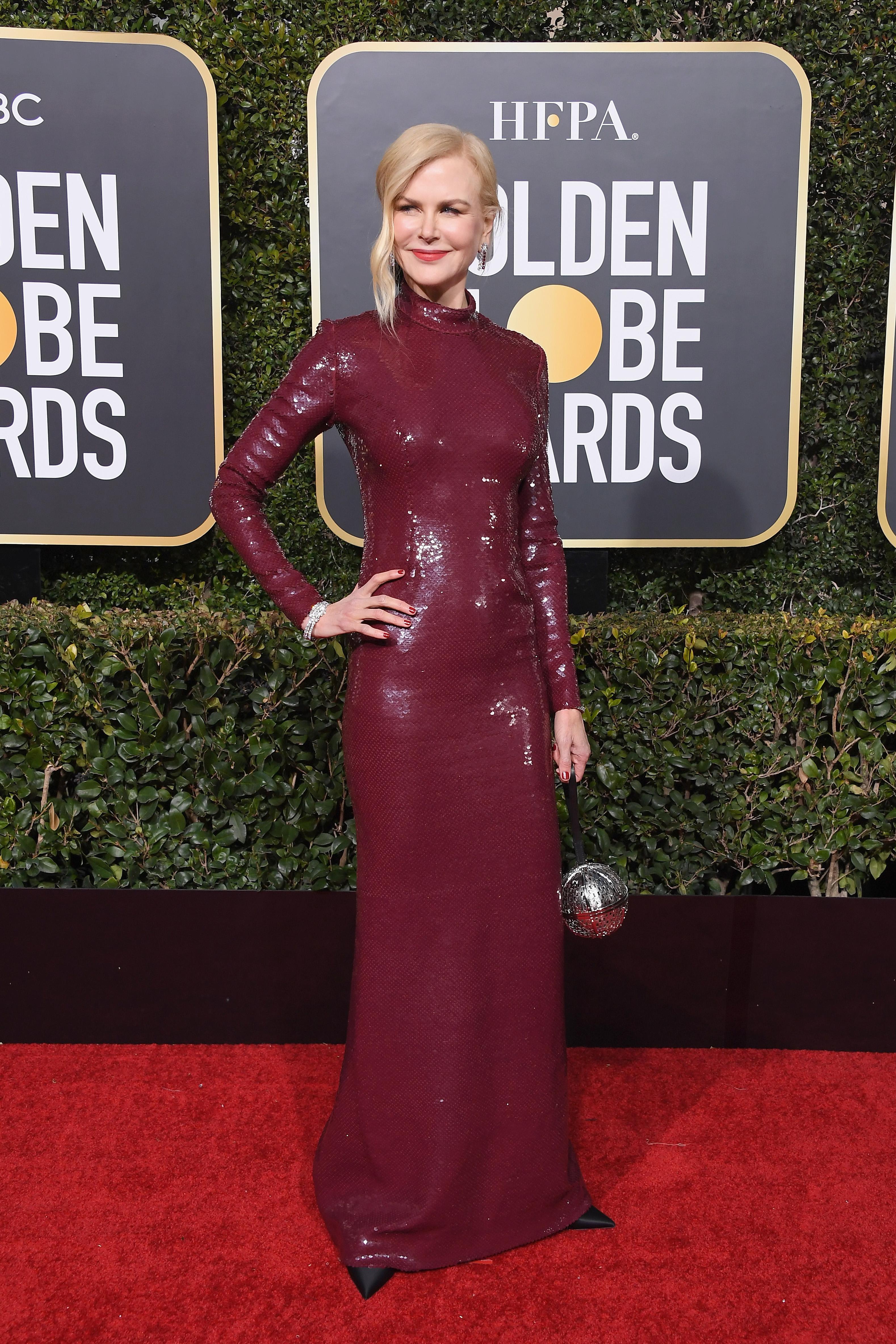 Nicole Kidman, golden globes, vestido, look