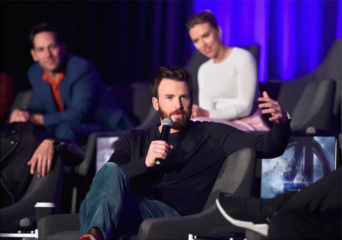 Chris Evans, Paul Rudd, Scarlett Johansson