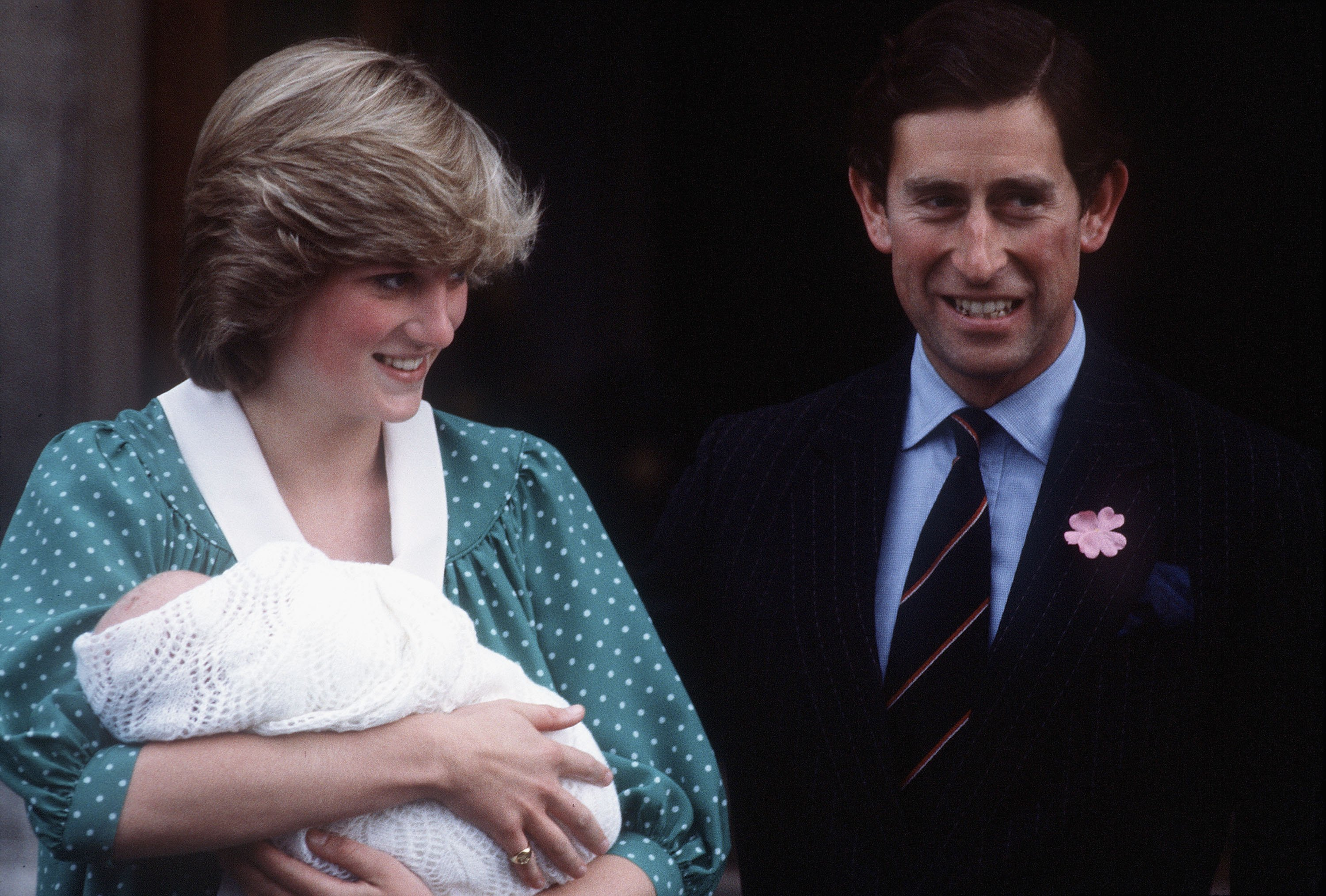 (FILE) Princess Diana Departs From St Mary's Hospital With Prince William