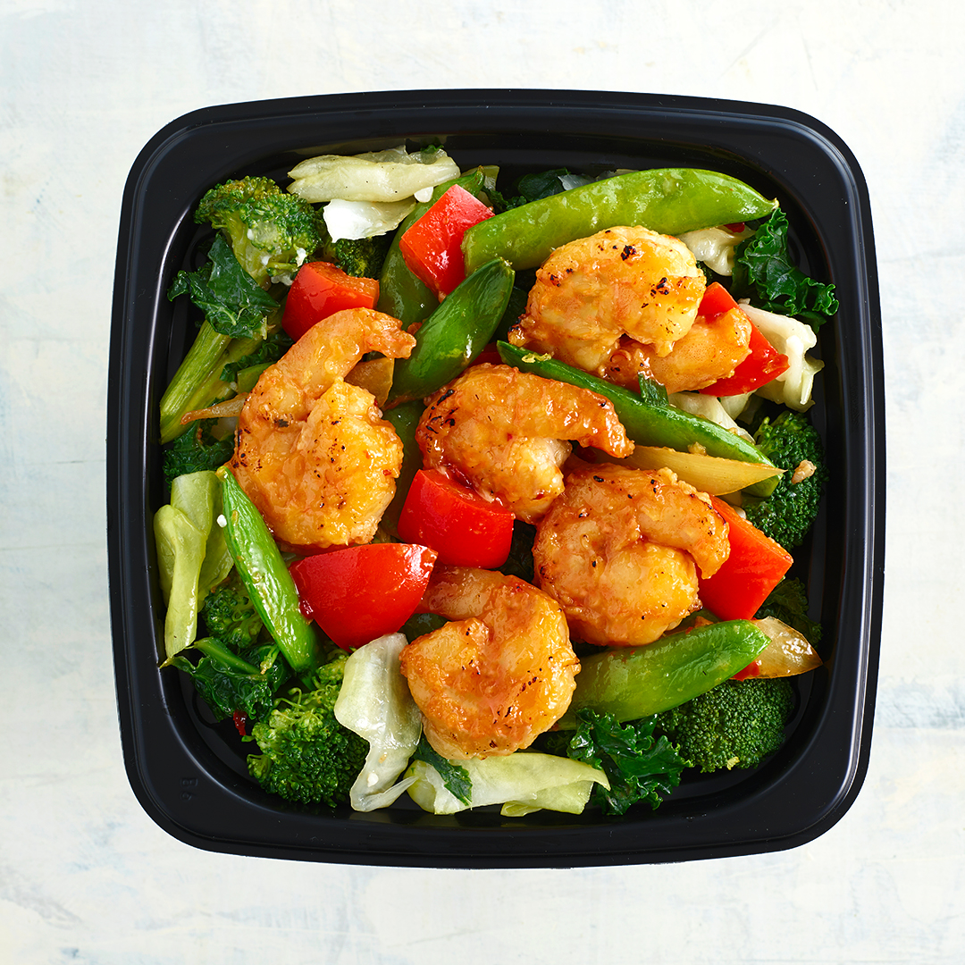 Work Fired Shrimp with Vegetables