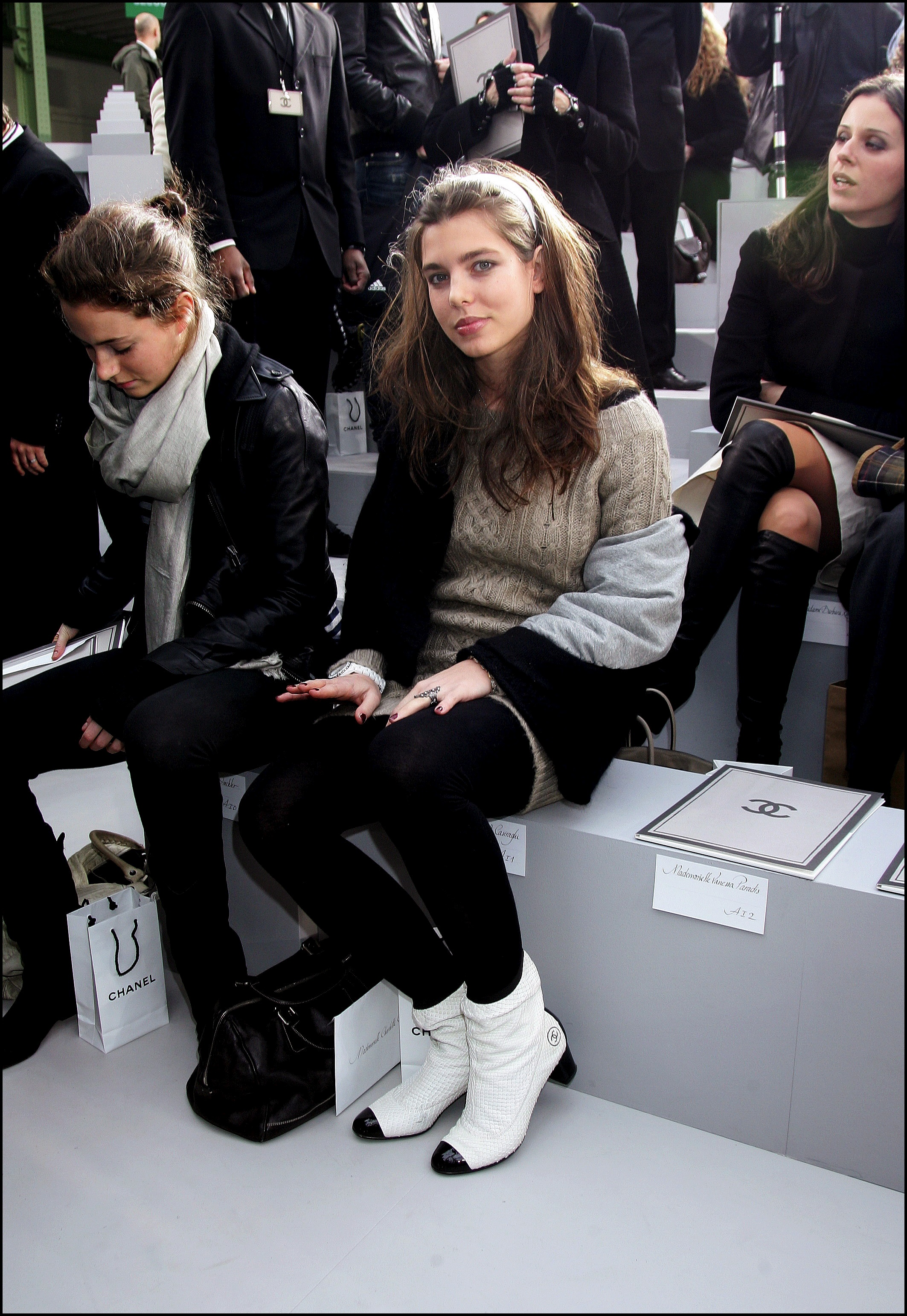 People at Chanel Spring-Summer 2007 Haute Couture Fashion show in Paris, France on January 23, 2007.