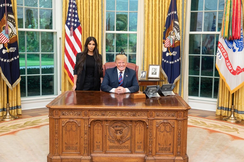 Kim kardashian West y Donald Trump