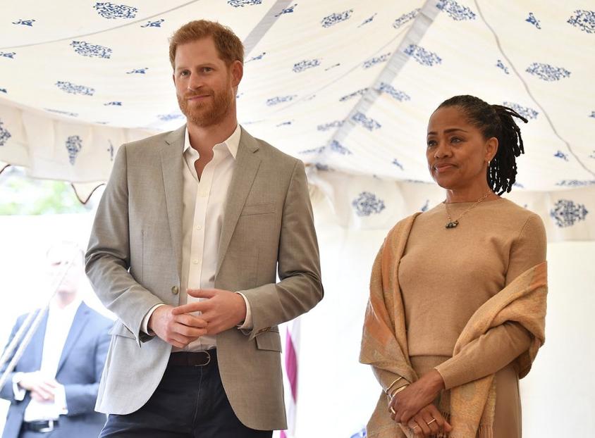 Meghan's mom, Doria Ragland, and Prince HarryBEN STANSALL/AFP/Getty