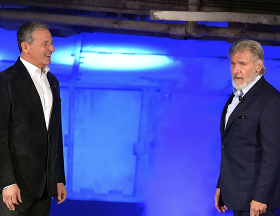 Bob Iger and Harrison Ford
